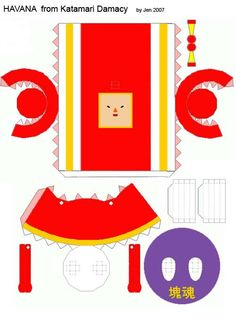 Here Is A Template For Havana Off Katamari Damacy I Know Its Very Hard To Find Templates The Characters So Have Made It Easy Everyone Make