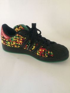 6bea0553c6a Adidas Sneakers Superstar Rasta Woven Shell Toe Unisex Size 5.5 US