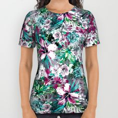 These premium quality American Apparel all over print shirts feature original… #tropical #exotic #floral #fashion