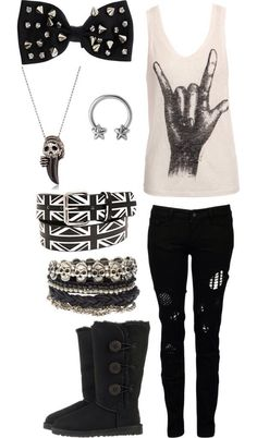 Love the everything separately too much together Punk / emo / rock / style / outfit
