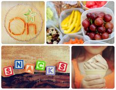 Healthy snack options and food to eat on the road with the family. These snacks are great for kids!
