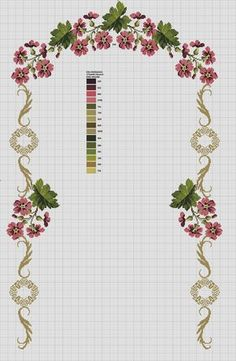 This post was discovered by Zeynep Özenç. Discover (and save!) your own Posts on Unirazi. Cross Stitch Borders, Cross Stitch Flowers, Cross Stitch Designs, Cross Stitching, Cross Stitch Embroidery, Cross Stitch Patterns, Lace Patterns, Easy Crochet Patterns, Beading Patterns