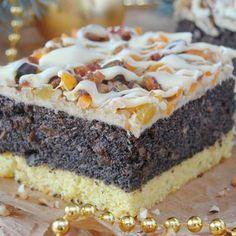 Świąteczny makownik - I Cook Different Polish Desserts, Polish Recipes, Cookie Desserts, No Bake Desserts, Polish Food, Sweet Recipes, Cake Recipes, Dessert Recipes, Poppy Seed Recipes