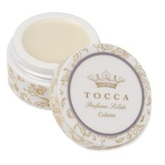TOCCA Colette Solid Perfume, Colette  Inspired by the French novelist and libertine, Colette, Tocca's newest fine fragrance captures the seductive essence of a woman.  Known for her romantic liaisons as much as her inspiring writing, Colette embodies the irresistible scent of a woman that lingers on the pillow long after she leaves.   Warm, spicy and sweet, Colette is the perfect fragrance for the sensual woman in us all.  Made in USA