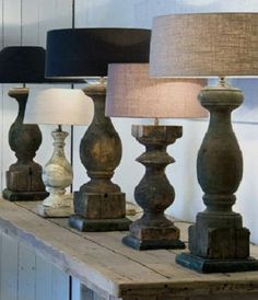 similar shape as your lamp bases... no? heerlijk robuust