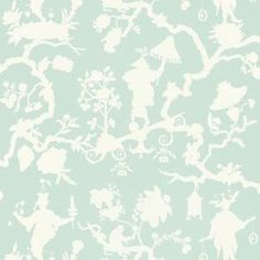 Shantung Silhouette Print Wallpaper 5005153 Schumacher Wallcoverings Blues Whites Asian Wallpaper Floral & Plants Wallpaper, Easy to clean , Easy to wash, Easy to strip Asian Wallpaper, Plant Wallpaper, Fabric Wallpaper, Wallpaper Roll, Pattern Wallpaper, Wallpaper Ideas, Painted Wallpaper, Kids Wallpaper, Chinoiserie Motifs