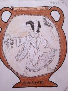 Greek drawing of Atalanta 6th grade
