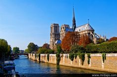 Notre Dame and the Seine in Paris, France... LOVE
