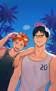 Kageyama X Hinata, Haikyuu Karasuno, Haikyuu Ships, Haikyuu Fanart, Haikyuu Anime, Fanarts Anime, Manga Anime, Chibi, Kagehina Cute