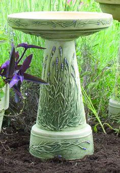 Zanesville birdbath in juniper green handcrafted in for Outdoor furniture zanesville ohio