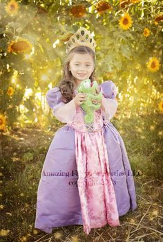 Rapunzel Princess Dress Costume Halloween Dress by 7dwarfsworkshop, $55.00