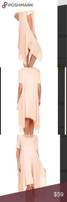 Midi Flyaway Cape ShirtDress NWOT Gorgeous peach midi flyaway dress! NWOT. 2S 2M 2L. Asymmetrical hem skirt. Pastel. Chiffon. Pink. Striped semi Pleated Maxi Tunic Dress. Fuschia Crochet. Marled. Pink. Shirt dress. Embellished. Sheath Blush Shift Dress FashionBohoLoco Dresses Maxi