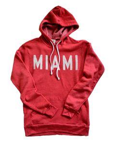 Garage Cotton · Vintage Block Miami University Redhawks Oxford Ohio Hoodie Made in USA
