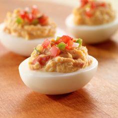Salsa Deviled Eggs
