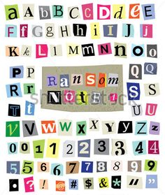 Multicolor set 2 printable digital alphabet a to z magazine vector cut newspaper and magazine letters numbers mixed uc spiritdancerdesigns Images