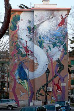 Street art  HITNES @ Sanba project Rome 2015
