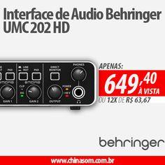 Interface de Audio Behringer UMC 202 HD Compre Aqui:
