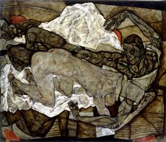 Egon Schiele - man and woman