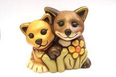 Thun Bozner Keramik Katzenpaar H=8 cm 9 x 7,5 cm Sehr guter Zustand