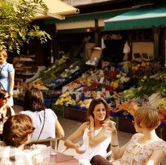 Mercado Naschmarkt em Viena, Áustria. Fotografia: Peter Rigaud.