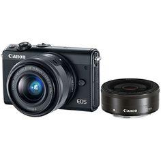 Canon Eos, Black Twins, Cmos Sensor, Easy To Use, Binoculars, Digital Camera, Wifi, Compact