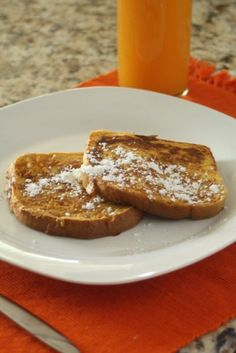 Pumpkin Pie French Toast by The Marvelous Misadventures of a Foodie