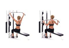 Lat Pull down for back muscles...