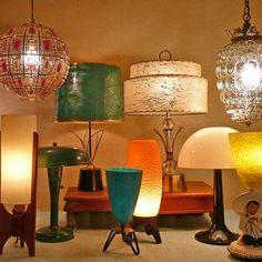 Mid-Mod Atomic Lamps at Lise Vintage LIghting