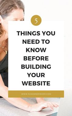 5 Things You Need to Know Before Building Your Website - Susanne Rieker | Marketing for Yoga Teachers