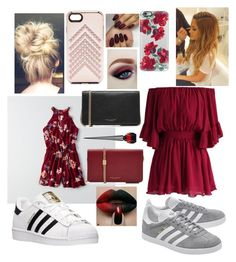 """Valentine Double date"" by scoutkari ❤ liked on Polyvore featuring American Eagle Outfitters, Chicwish, adidas Originals, adidas, Rebecca Minkoff, Casetify, Marc Jacobs and Christian Louboutin"