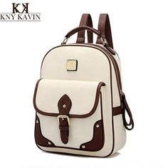 PU Leather women backpack vintage Solid backpacks for teenage girls school bags preppy. Item Type: BackpacksBackpacks Type: SoftbackBrand Name: KNY KAVIN KKCarrying System: Arcuate Shoulder StrapTechnics: EmbossingExterior: NoneRain Cover: NoInterior: Interior Slot Pocket,Interior Zipper Pocket,Interior CompartmentHandle/Strap Type: Soft HandleClosure Type: ZipperDecoration: LetterGender: WomenPattern Type: SolidStyle: Preppy StyleLining Material: PolyesterMain Material: PUCapacity: 20-35…