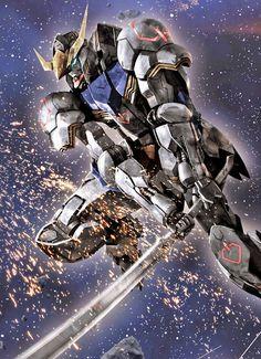 Gundam: Iron Blooded Orphans Fan-Arts - Image Gallery Gundam Astaroth Image via Ippei Youbu Arte Gundam, Gundam Wing, Gundam Art, Gundam Wallpapers, Animes Wallpapers, Gundam Astaroth, Power Rangers, Cyberpunk, Barbatos Lupus