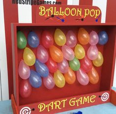 Balloon Dart Game Target Gallery dart balloon by RedStripeGames Backyard Carnival, Diy Carnival, Circus Carnival Party, Circus Theme Party, Carnival Birthday Parties, Circus Birthday, Birthday Party Games, Carnival Games, First Birthday Parties