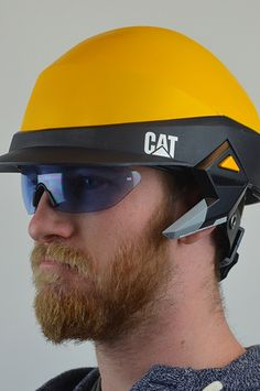 Austin Scott redesigned the iconic hardhat helmet, and designed it specifically for contractors and managing level construction workers. It has a blue tooth headset and a flashlight, but the bigger idea is that it's modular, meaning you can add the features you need.