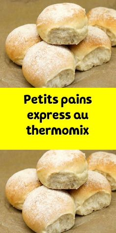 Thermomix express rolls a very easy bread for breakfast Easy Soup Recipes, Easy Cake Recipes, New Recipes, Pain Thermomix, Quick And Easy Soup, Thermomix Desserts, Easy Bread, Desert Recipes, Coco