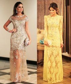 Os vestidos de festa da Thassia Naves