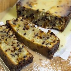 Italian Cannoli Pound Cake with a White Chocolate Ganache - Chef Dennis Pound Cake Recipes, Pound Cakes, Sour Cream Coconut Cake, Ricotta, Cannoli Cake, Italian Cake, White Chocolate Ganache, Cinnamon Chips, Molecular Gastronomy
