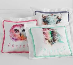 Junk Gypsy Animal Decorative Pillows #pbkids