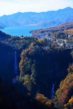 Lake chuzenji and kegon waterfall, Nikkō National Park, Japan