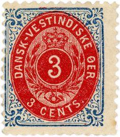 Danish West Indies stamp: arabesques by karen horton, via Flickr