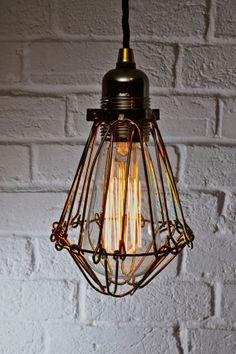Edison Industrial Cage Pendant Light — Artifact Lighting