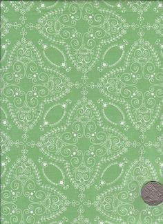 "Lace Green/White  ""Flower Child"" designed by Rosalie Dekker. (Quinlan)"