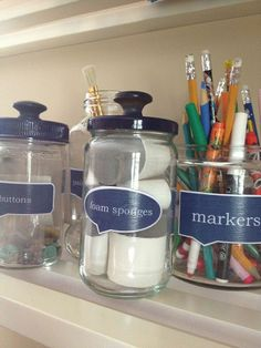DIY 'Pharmacy Jars' From Glass Food Jars (Free Printable Labels)