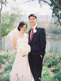 Photography: Sarah K Chen Photography - sarahkchen.net  Read More: http://www.stylemepretty.com/little-black-book-blog/2014/11/11/al-fresco-shady-canyon-golf-club-wedding/