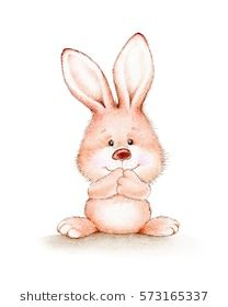 Cute pink bunny on a white background Bunny Images, Cute Images, Cute Kawaii Drawings, Cute Animal Drawings, Cute Animal Illustration, Children's Book Illustration, Bunny Art, Cute Bunny, Cute Cartoon Animals