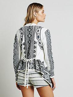 Biya Embroidered Short Cardigan