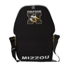 Mizzou Tiger Head: Mizzou - White Courier Bags