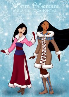 Winter Mulan n Pocahontas