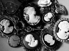 cameo's-  these are lovely! I have always had such an obsession with cameos since a little girl, prob cause my mom wore them and had so many - Liza