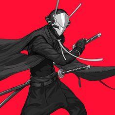 #Illustration #cyberpunk #art #graphic #future Bryan Lie @panda.cafe Ronin Samurai, Samurai Art, Character Concept, Character Art, Concept Art, Manga Anime, Anime Art, Ex Machina, Sci Fi Characters